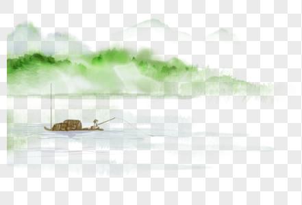 中国风山水渔翁图片