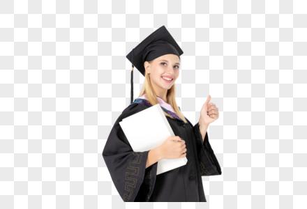 穿学士服为您点赞的外国美女图片