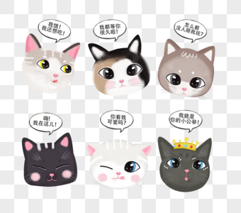卡通猫咪表情图片