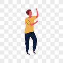 跳舞男人图片