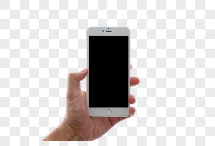 手拿智能手机图片