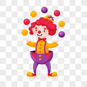 愚人节小丑杂耍元素图片