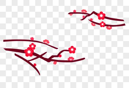 矢量梅花素材图片