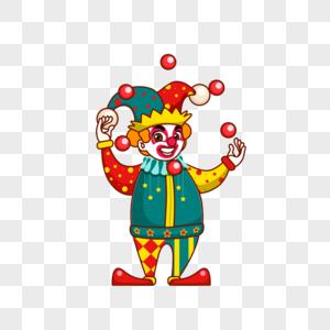 小丑抛球图片