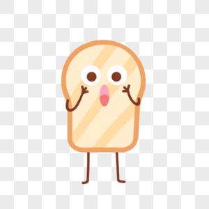 小面包惊吓表情图片