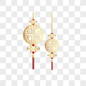 金色中国结新年元素设计图片