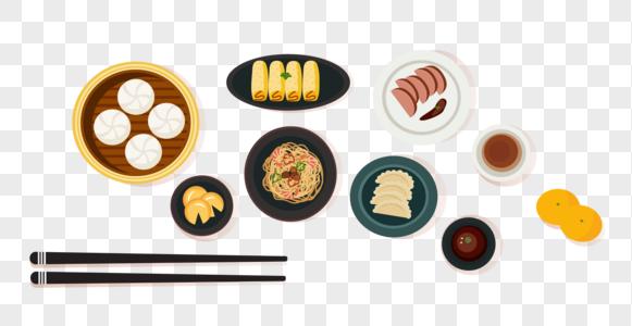 中式美味早餐美食图片