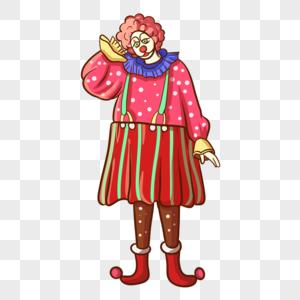 愚人节小丑卡通人物免抠素材图片