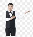 男服务业微笑服务图片