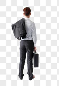 拿公文箱的商务人士图片