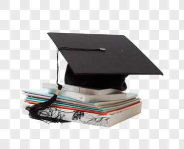 学士帽与课本图片