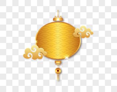 金色灯笼祥云新年创图形图片