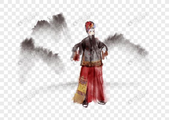 国画水墨写意京剧人物图片