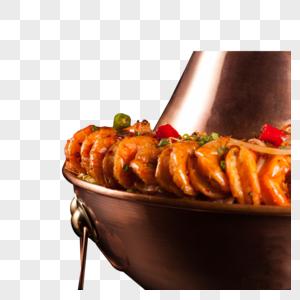 虾炭火蛙锅图片