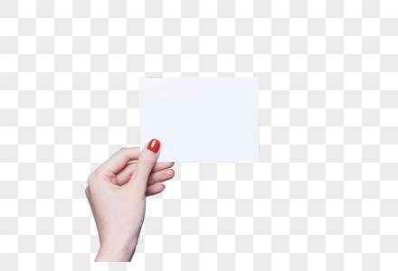 女性美甲手拿卡纸特写图片