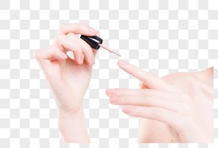 女性美甲涂指甲图片