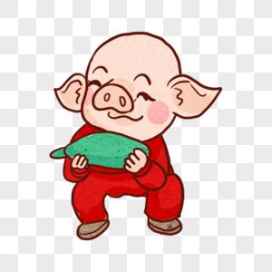 吃腊八蒜的猪图片
