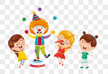 愚人节开心玩耍的孩子们图片