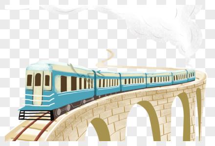 行驶中的火车图片