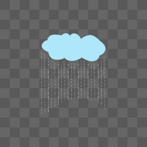 下雨的云图片