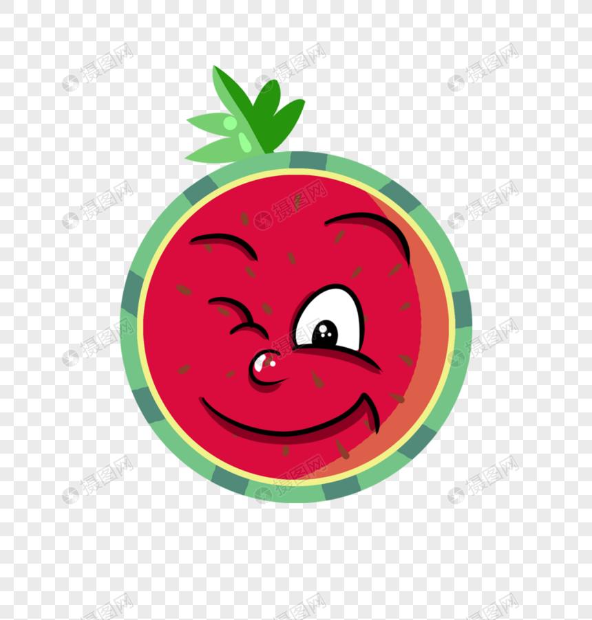 调皮表情图片西瓜动画PNG表情_设计素材免费格式吃素材包元素大全图片
