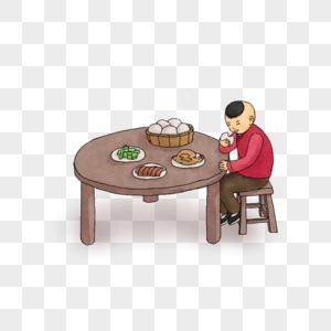 吃饭的小孩图片