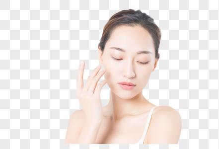 年轻女性美容护肤图片