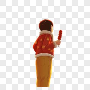 吃糖葫芦的男孩图片