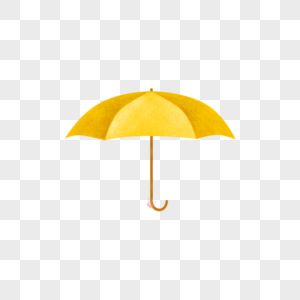 黄色的雨伞图片