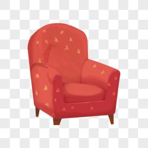 红色的沙发图片
