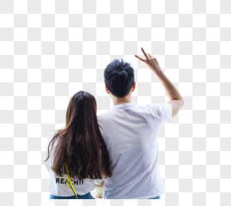 情侣背影图片