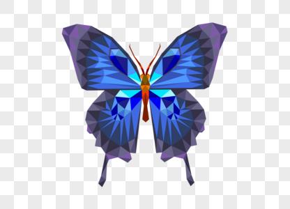 矢量几何蝴蝶图片