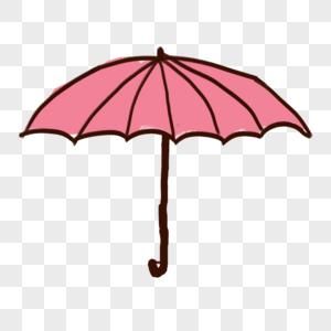 粉色雨伞图片