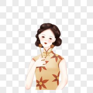 瘦脸的女人图片