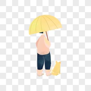 打着伞的人图片