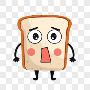 卡通面包吃惊表情图片