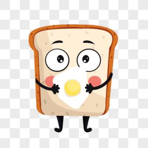 卡通面包吃鸡蛋表情图片