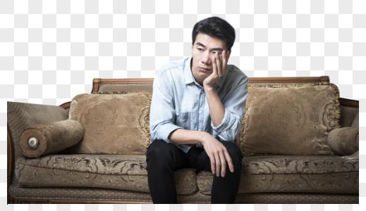 男青年头疼图片