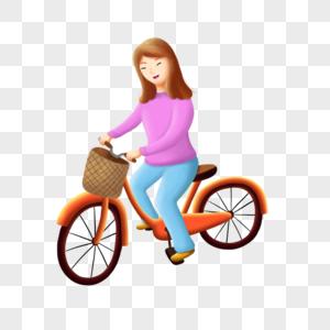 骑车春游的女人图片