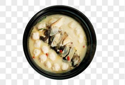 手打鱼头鱼丸汤砂锅图片