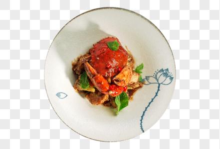 黑胡椒干葱焗肉蟹图片