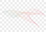 抽象创意彩色渐变线条图案元素图片