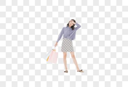 美女去购物图片