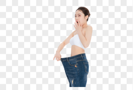 减肥成功的瘦身美女图片