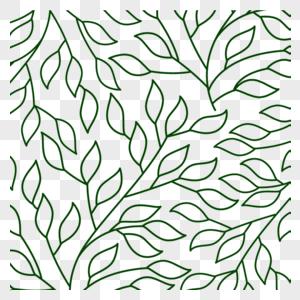 简约创意植物底纹图片