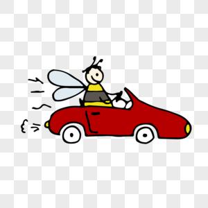 开豪车蜜蜂元素图片