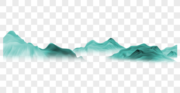 绿色动感山峦图片