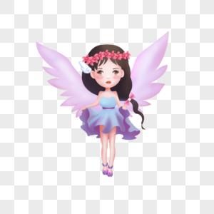 长翅膀的女孩图片