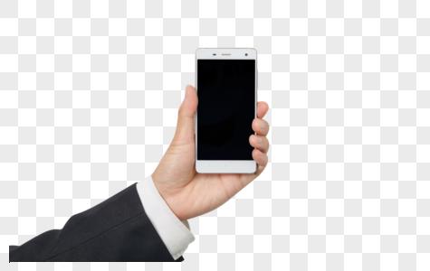 简洁商务风单手拿手机图片