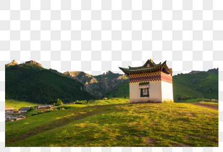 高山房屋图片